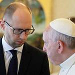 После встреч Яценюка с лидерами западных стран, премьер-министр Украины удостоен аудиенции с самим Папой Римским