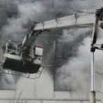 В США зернохранилище рухнуло на другое здание